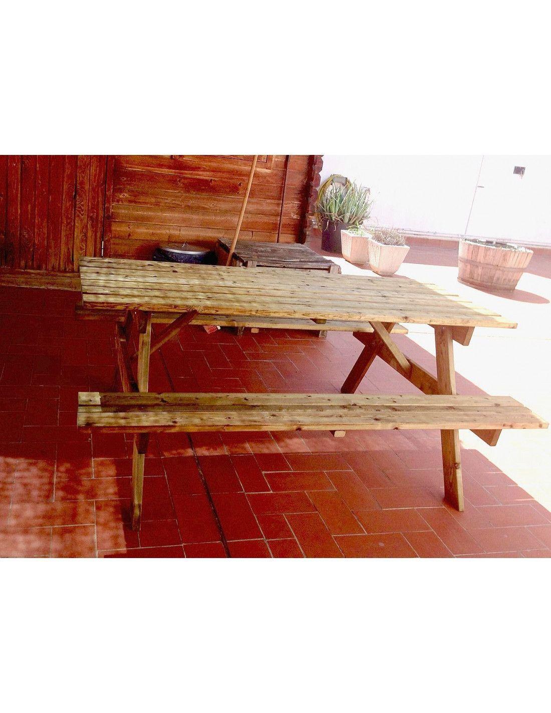 Mesa de madera para jard n - Mesas de madera de jardin ...