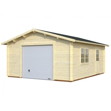 Garaje de madera Tarifa con puerta basculante