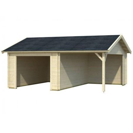 garaje madera sin puerta