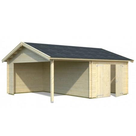 garaje madera con puerta
