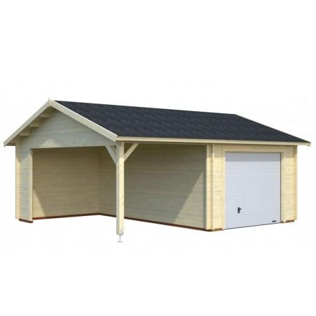 garaje madera con puerta basculante