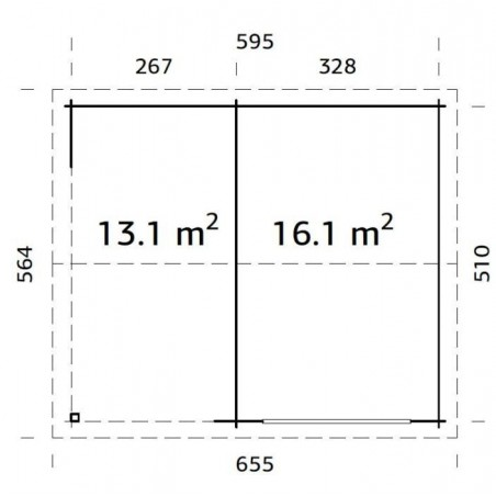 medidas garaje madera Sagres