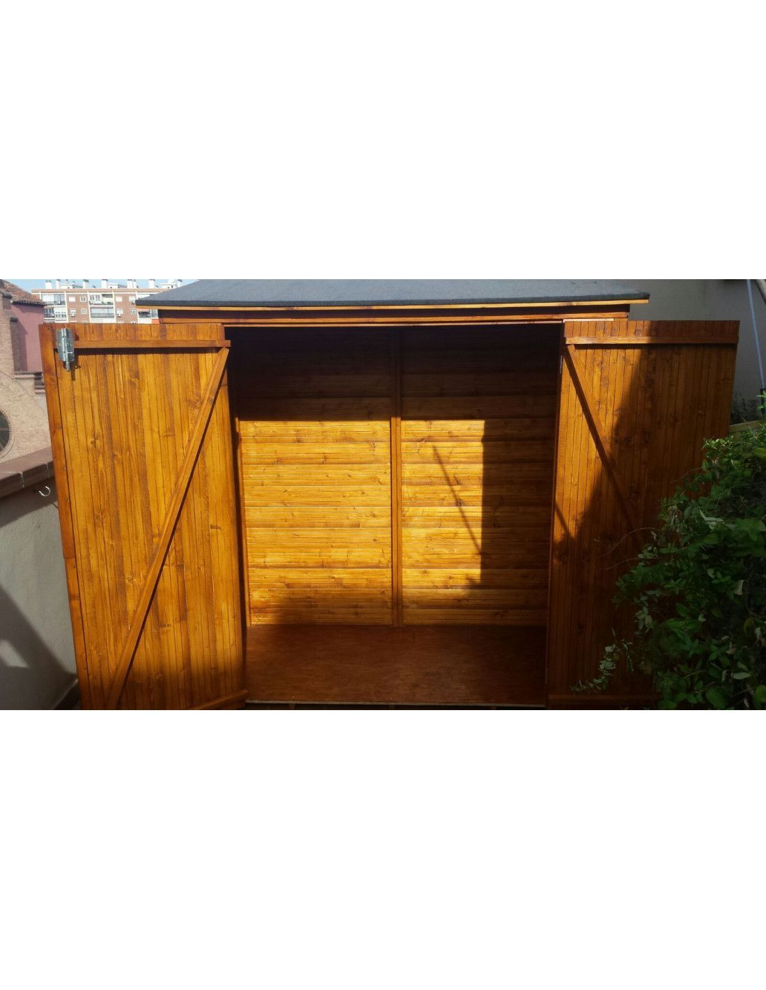 armarios de exterior en madera prefabricados mod albecove
