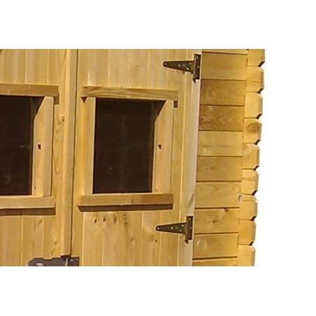 Cobertizo de madera 180 x 180 cm