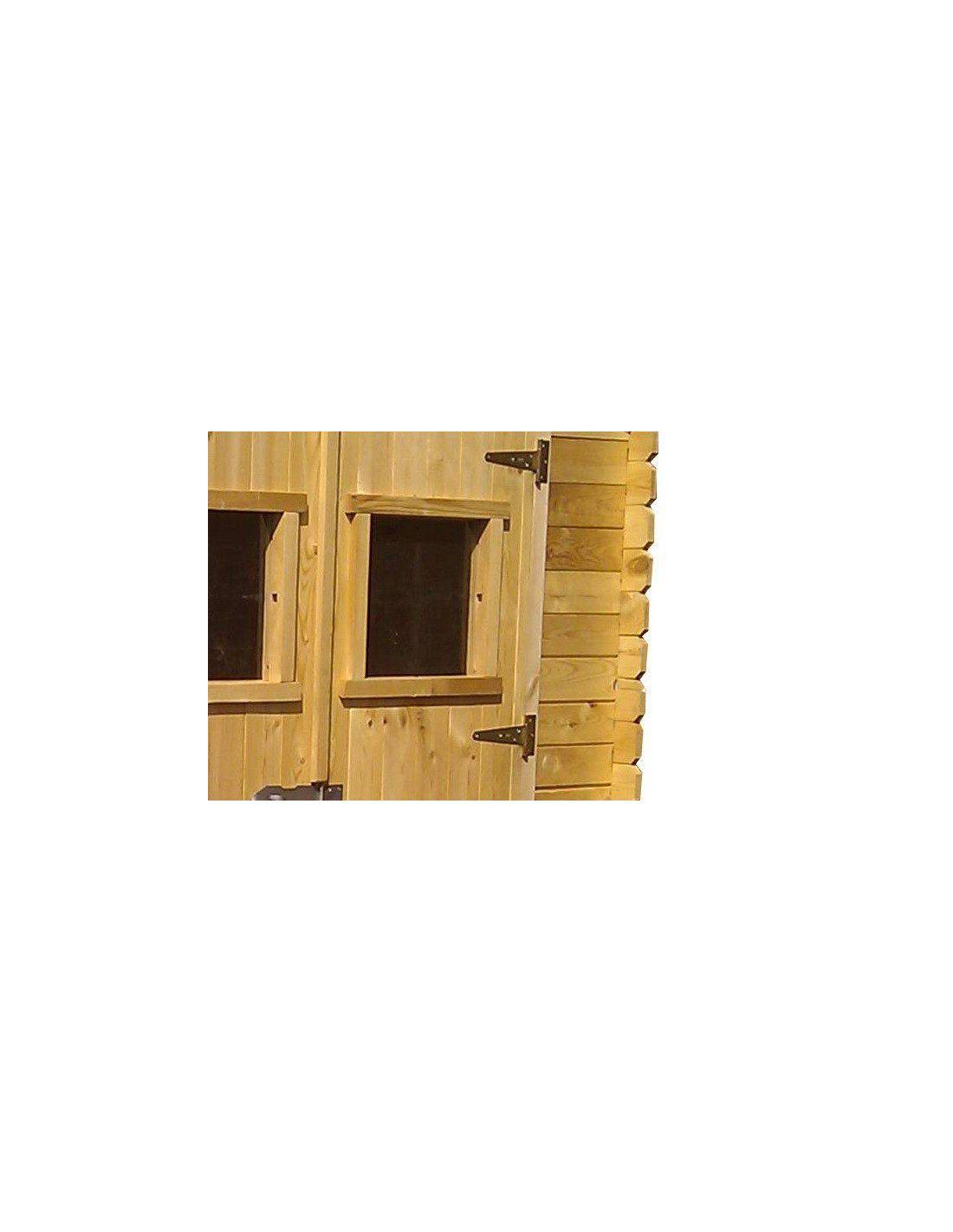 Cobertizo de madera alexander ii 4 47 m for Madera para cobertizo