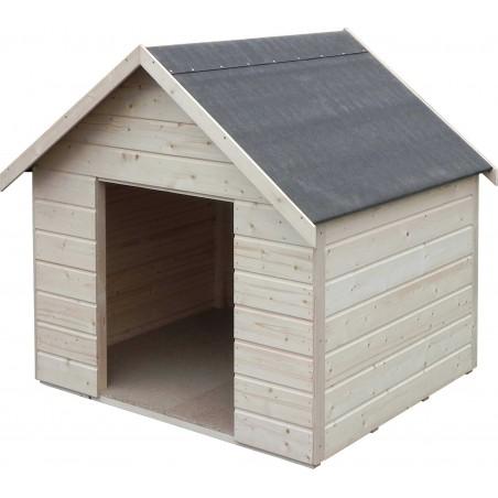 Caseta de madera para perros XL