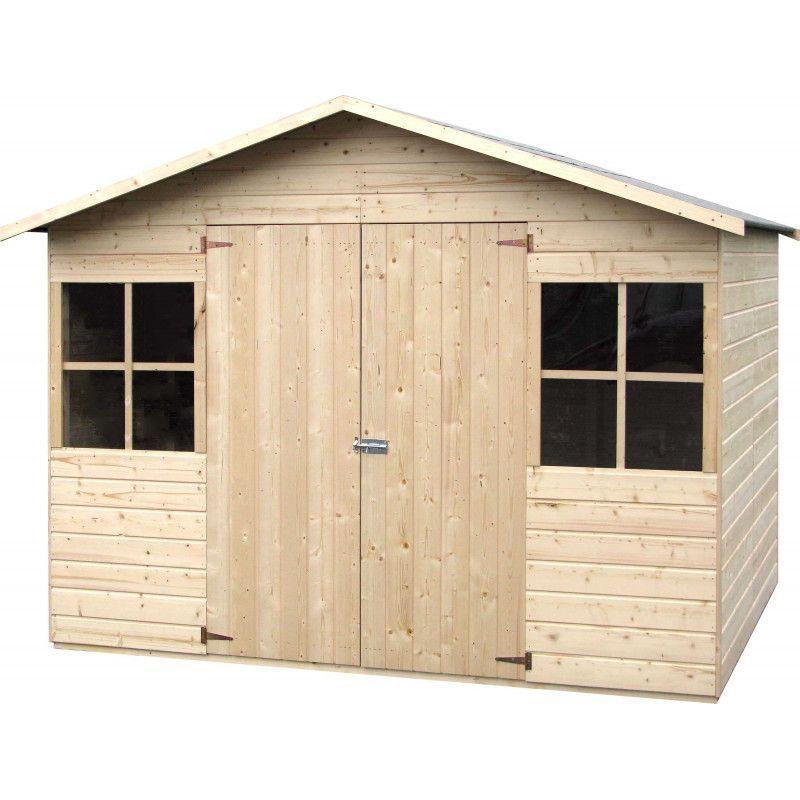 Caseta de madera modelo fresno for Cobertizos y casetas