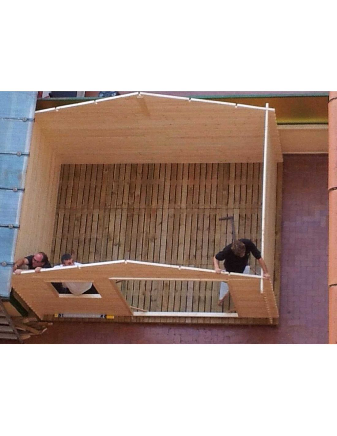 Caseta de madera para jardin 4x3m for Cobertizos y casetas