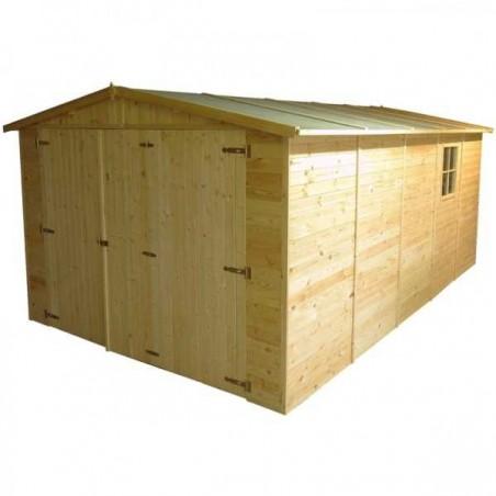 Garaje de madera Mikhail I.19mm. 300 x 500cm. 15 m²