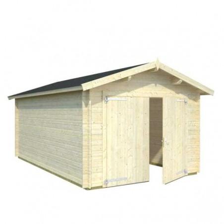 Garaje de madera Palmar con puerta doble