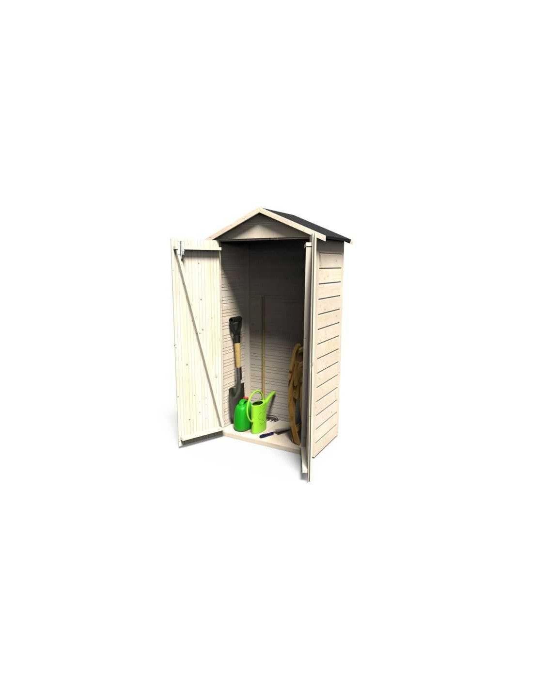 Armarios de exterior armario de madera mod bora 92x51cm - Armario de madera para exterior ...