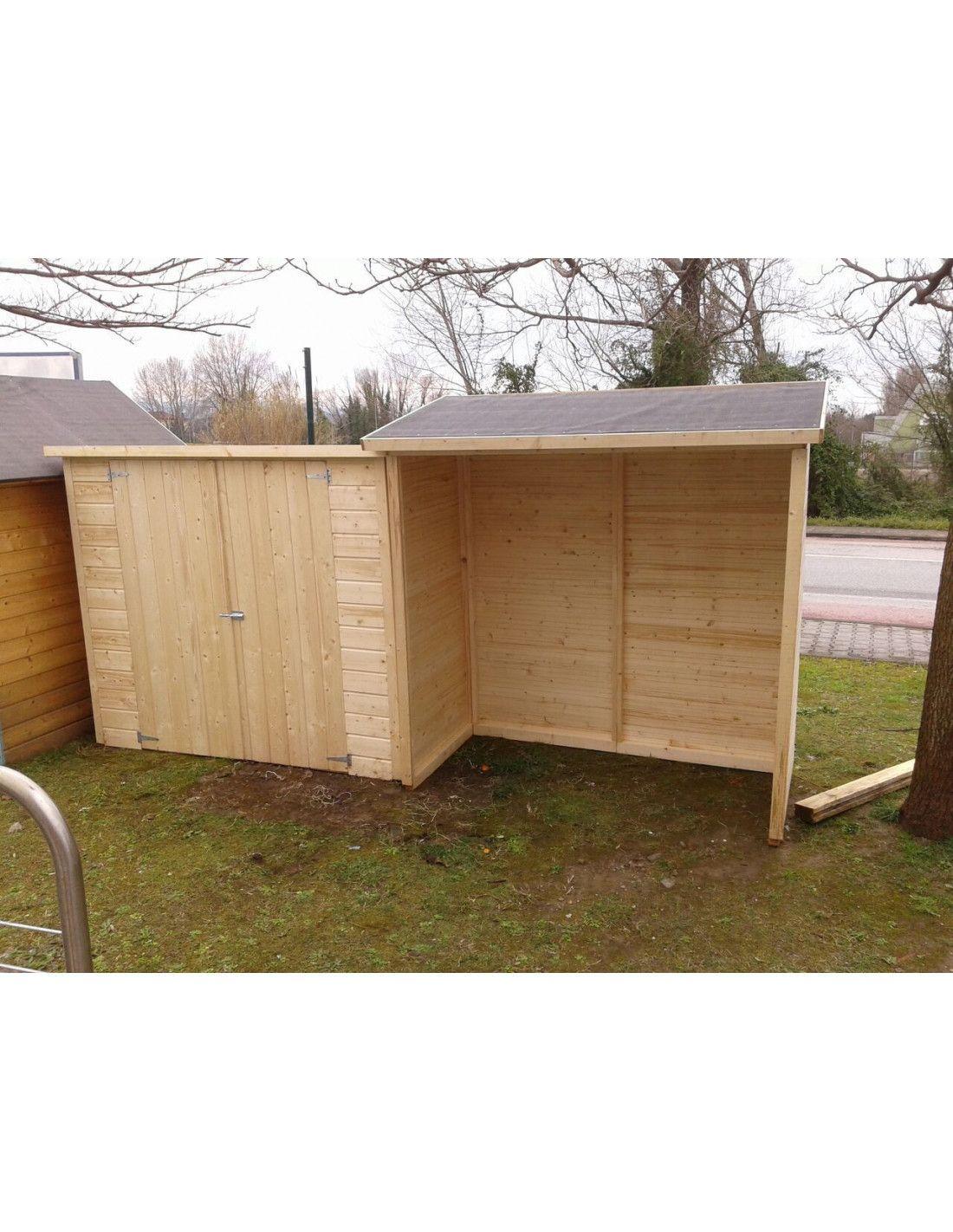 armario de madera o caseta de madera modelo guarda bicis