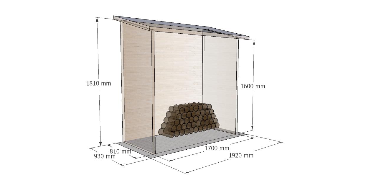 Cotas Leñero de madera modelo Aveal