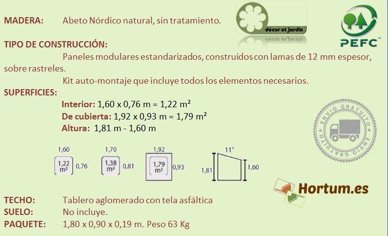 Ficha Leñero de madera modelo Aveal