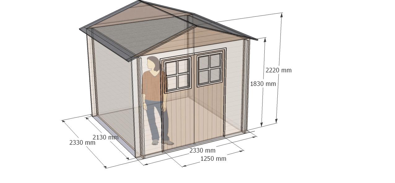cotas/medidas caseta de madera Mistral, Hortum