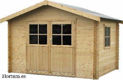 casetas de madera de lamas para jardin