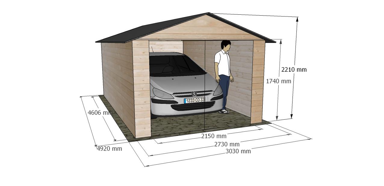 Garaje de madera modelo brisa for Modelos de puertas de garaje