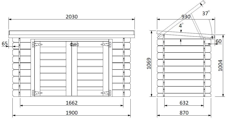 Cofre de madera ideal para piscina
