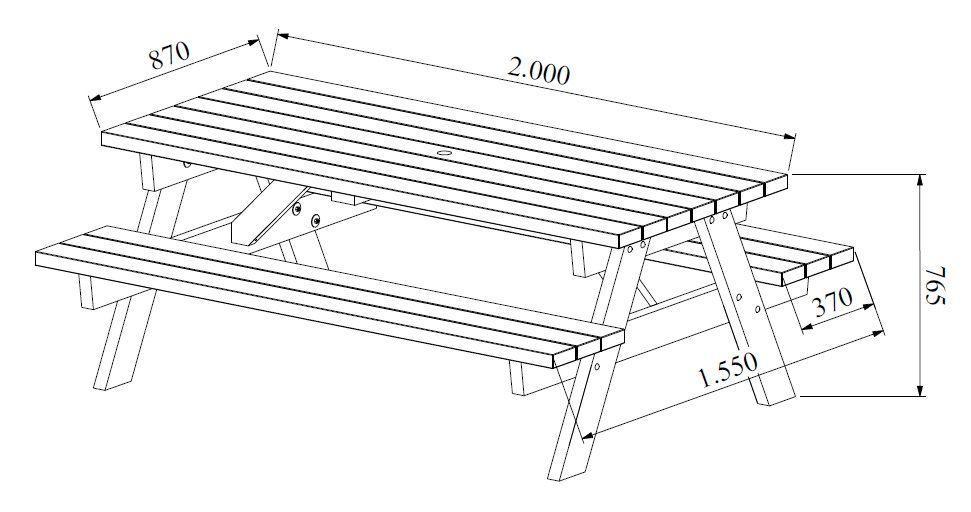 Mesa campestre madera 3
