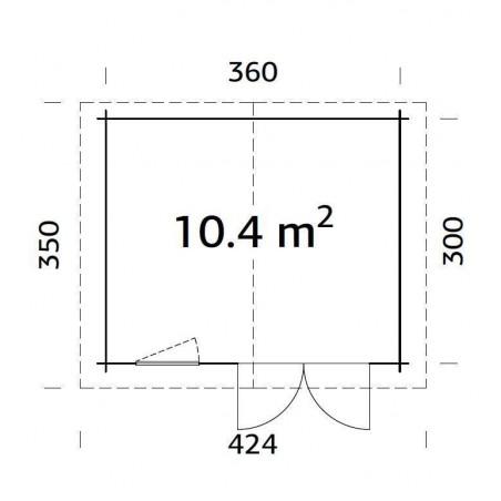 Klara, 28 mm, 380 x 320 cm, 12,16 m²
