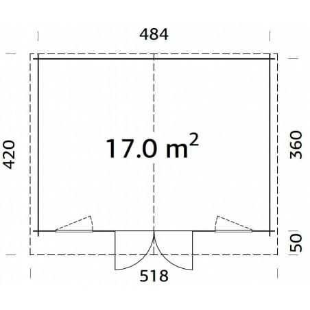 Klara, 28 mm, 504 x 380 cm, 19,15 m²
