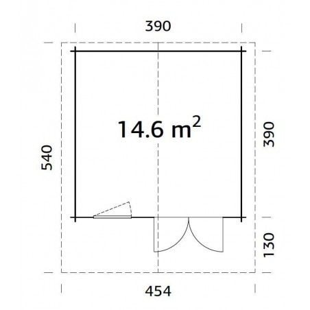 Britta, 40 mm, 410 x 410 cm. 16.81 m²