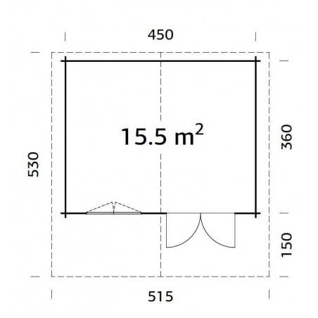 Sally, 44 mm, 470 x 380 cm, 17,86 m²