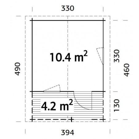 Sylvi, 34 mm, 350 x 350(480) cm. 16.80 m²