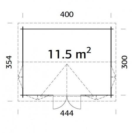 Claudia, 44 mm, 420x320 cm. 13.44 m²