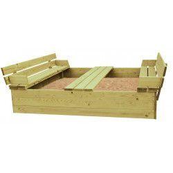 Arenero madera Sandy 150x150x30cm