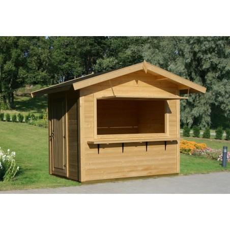 Kiosko de madera Stella en exterior