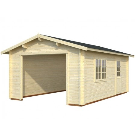 Garaje de madera de madera Roger. Sin puerta frontal