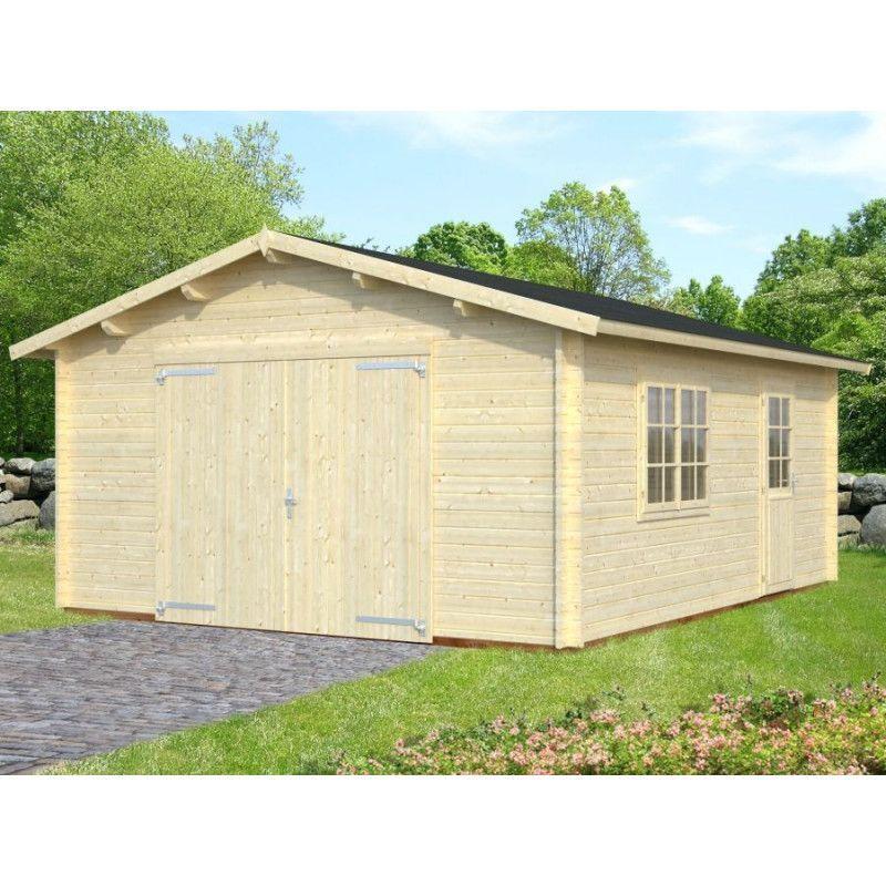 Garaje de madera Tarifa con puerta