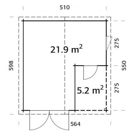 medidas garajes de madera