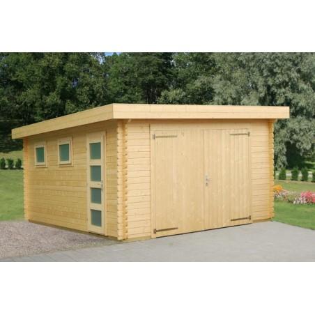 garaje madera Novel con puerta