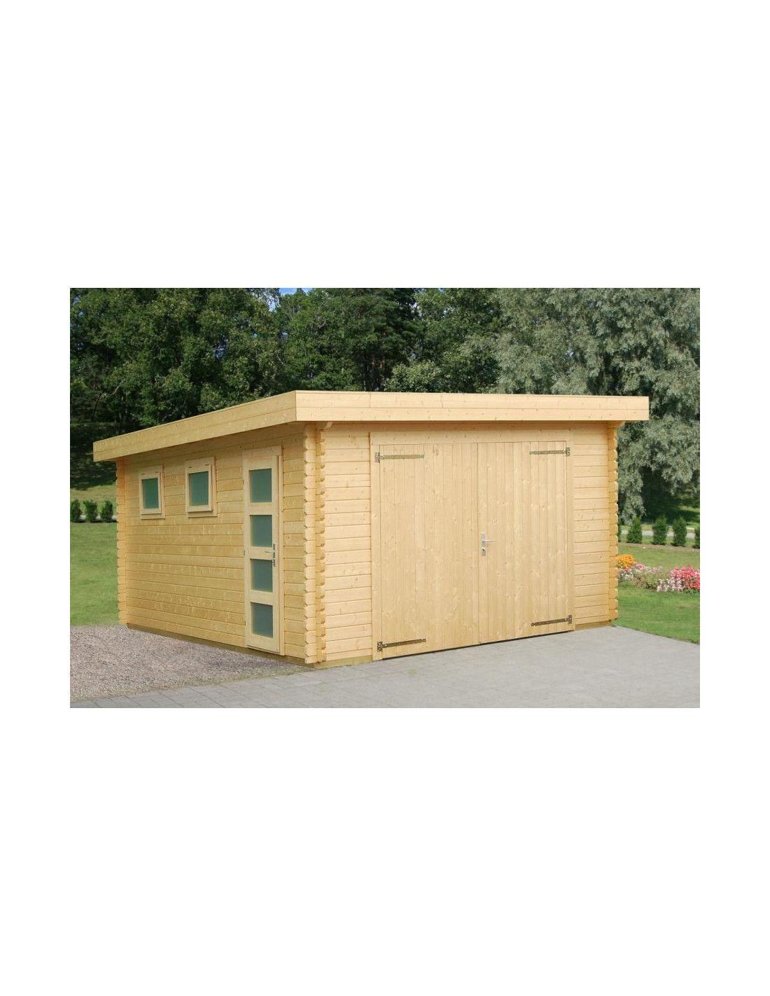 Garaje de madera modelo novel for Garajes con jardin