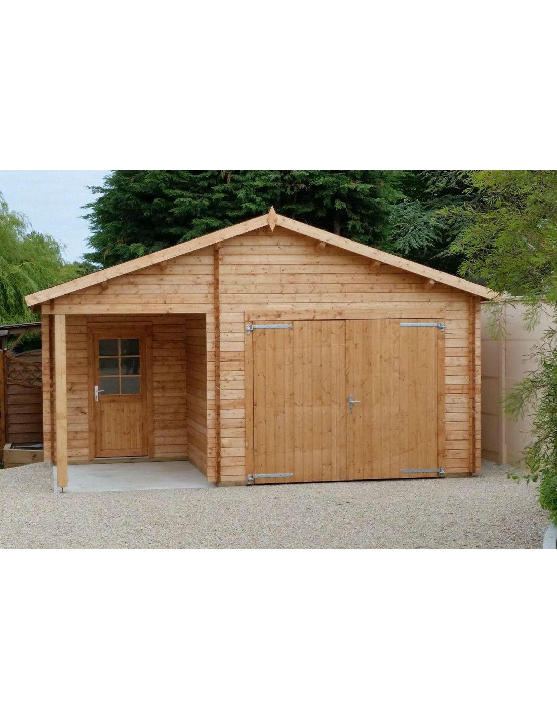 Garaje de madera somo 530x570 cm - Garajes prefabricados de madera ...