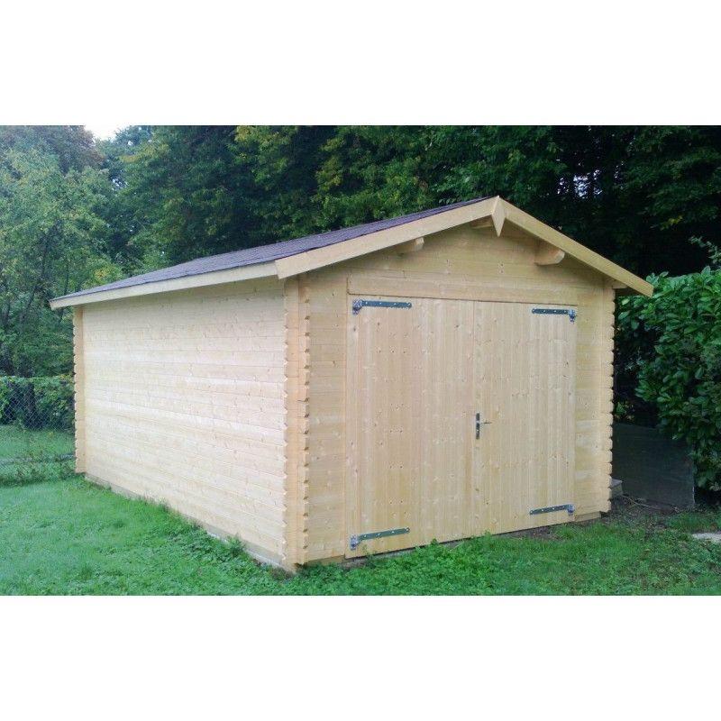 garaje de madera modelo Palmar con puerta
