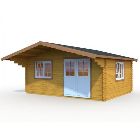 Cabaña de madera Sally 19.1 m² pintada