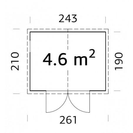 Cobertizo de madera Dan 4,6 m²