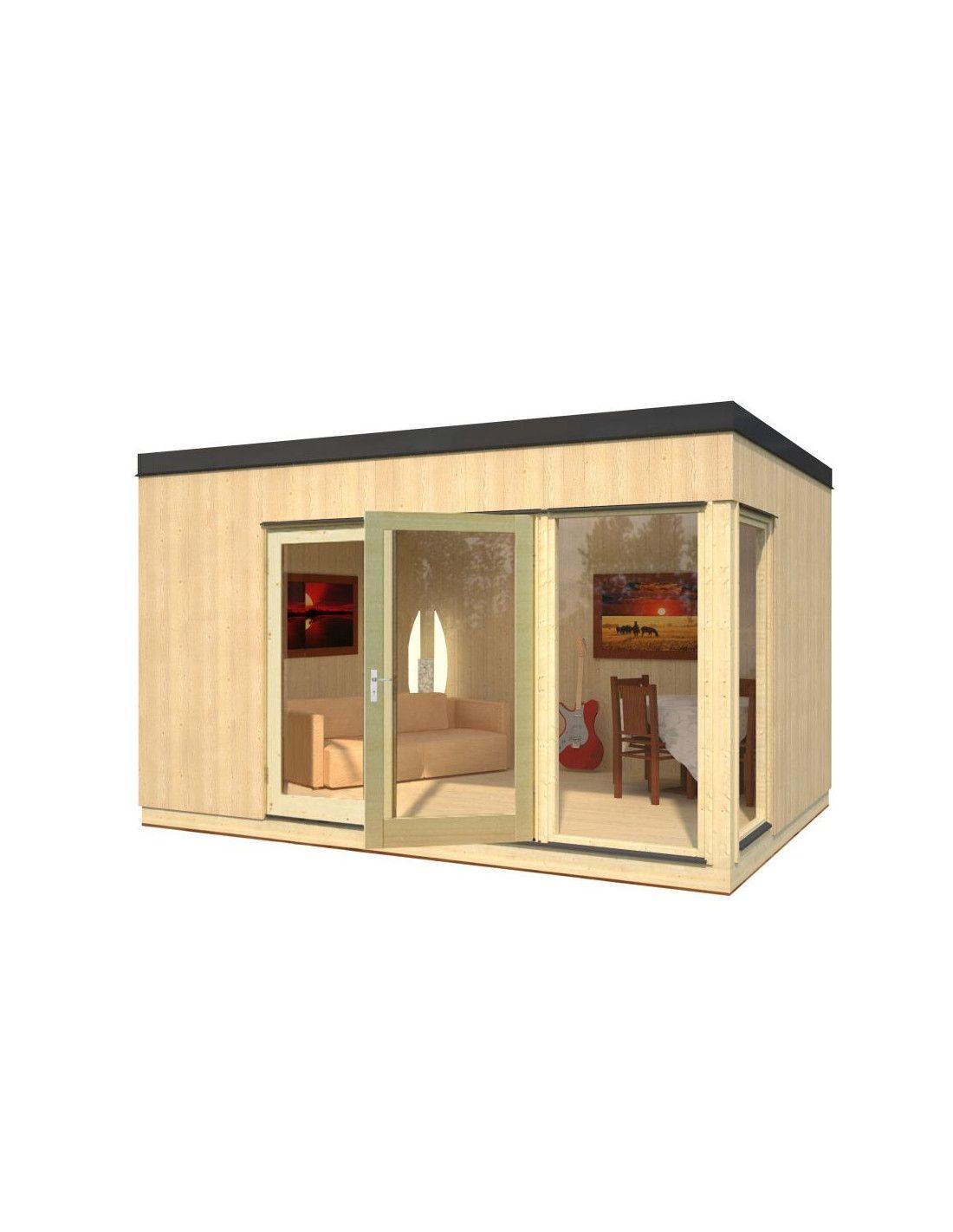 Caseta de madera estilo n rdico modelo solveig de 13 8m - Casetas de madera para terraza ...