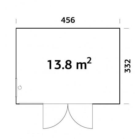 Caseta Nordica Solveig 13,8 m²