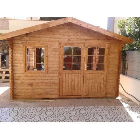 casa de madera Fordiger. 44 mm, 386 x 386cm, 14.9 m²