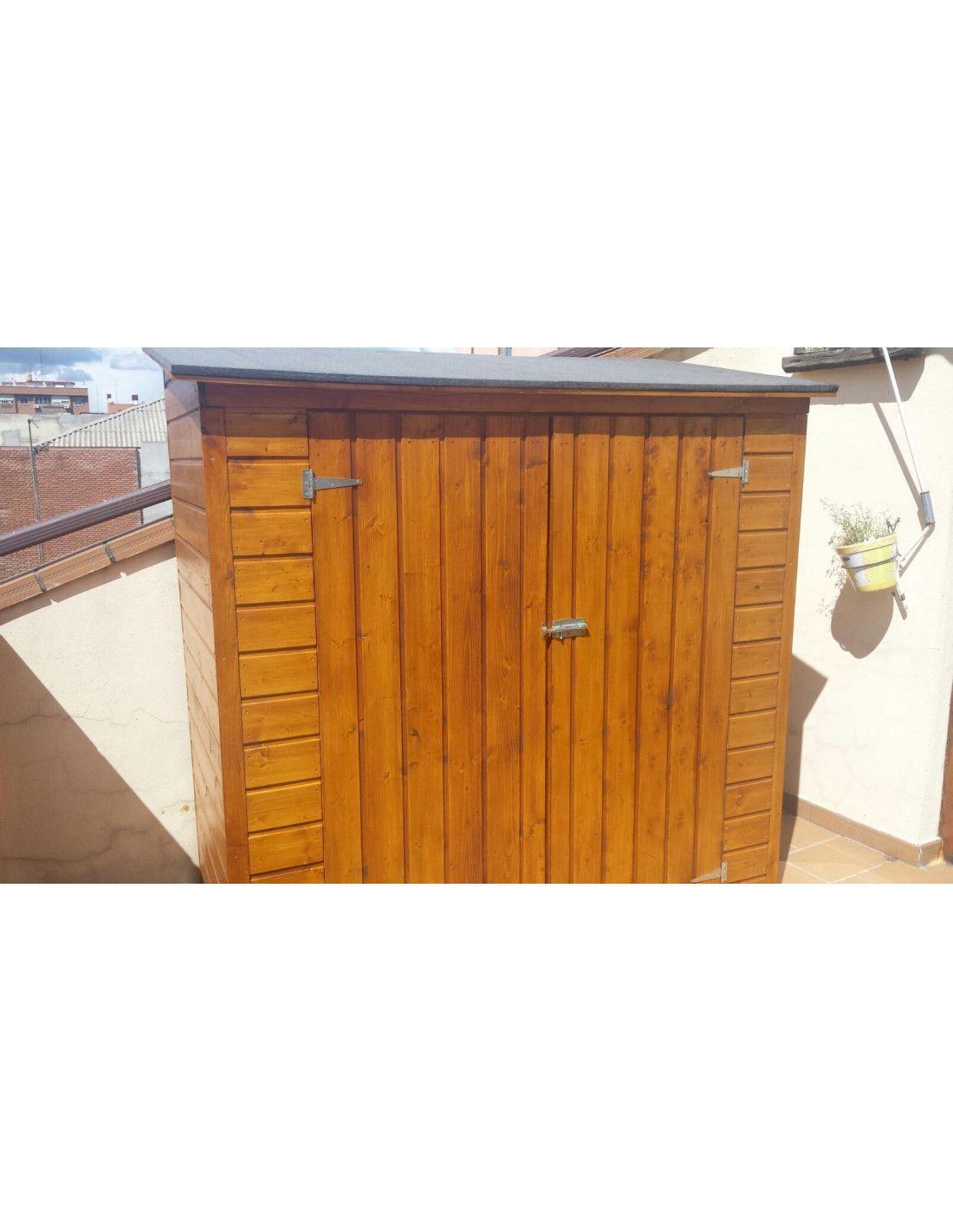 armario de madera para jard n modelo albecove