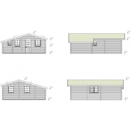 Casa de madera Emily 39.2 m²