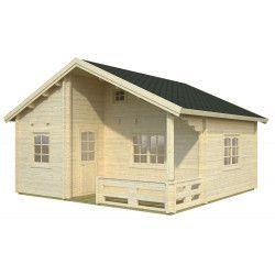 Casa de madera Emily 40.1+ 5.2m²