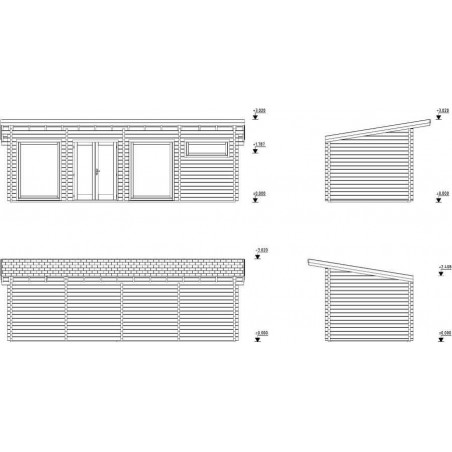 caseta de madera prefabricada Heidi Plus