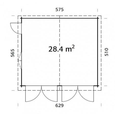 Plano medidas garaje peniche