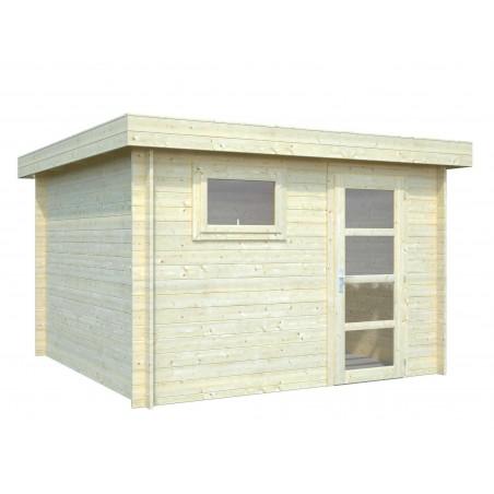 Caseta de madera techo plano mod. SANTA