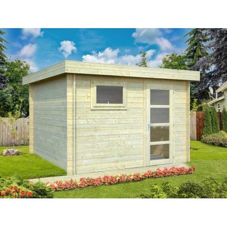 Caseta de madera techo plano mod. SANTA exterior